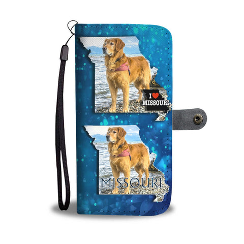 Golden Retriever Print Limited Edition Wallet Case-Free Shipping-MO State