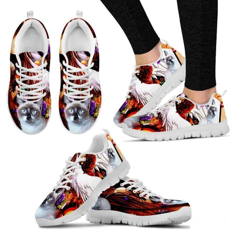 Gerardette McCarthy/ Cat Print Running Shoe For Women- Free Shipping-Paww-Printz-Merchandise