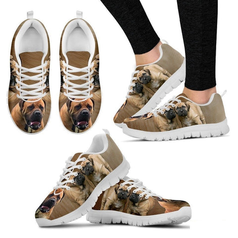 South African Boerboel Dog Running Shoes For Women-Free Shipping-Paww-Printz-Merchandise