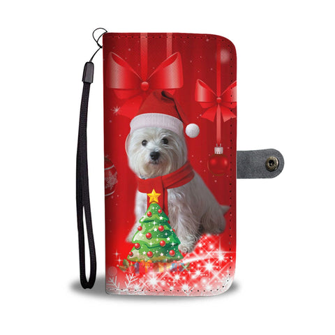 West Highland White Terrier (Westie) Christmas Print Wallet Case-Free Shipping