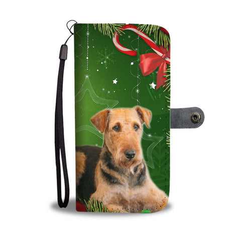 Airedale Terrier On Christmas Wallet Case-Free Shipping