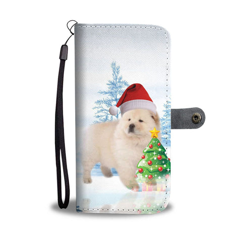 Cute Chow Chow Dog Christmas Print Wallet Case-Free Shipping