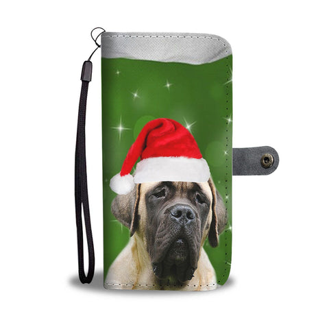 English Mastiff Christmas Print Wallet Case-Free Shipping