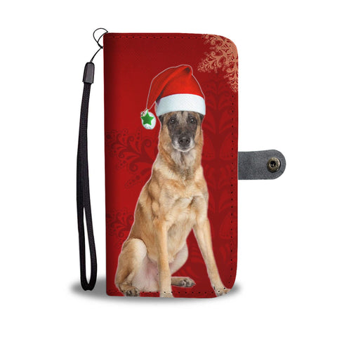 Belgian Malinois Dog On Christmas Print Wallet Case-Free Shipping