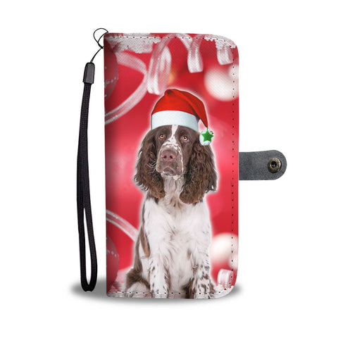 English Springer Spaniel On Christmas Print Wallet Case-Free Shipping