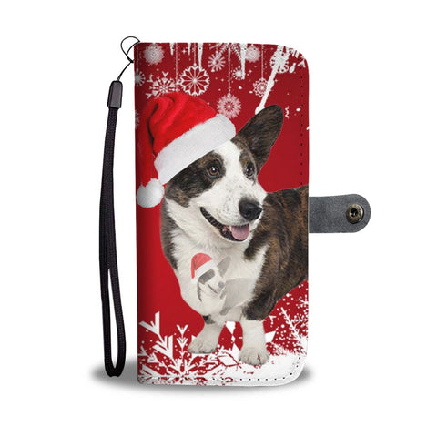 Cardigan Welsh Corgi Christmas Print Wallet Case-Free Shipping
