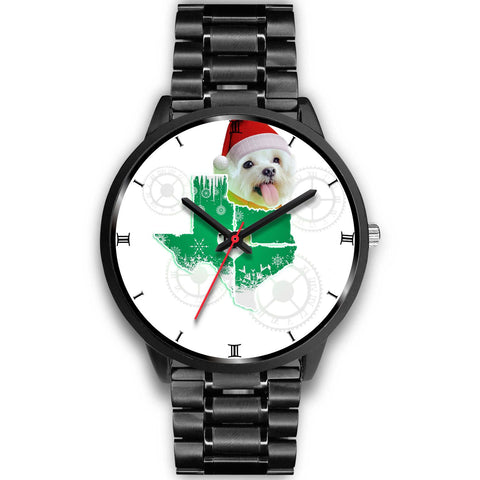 Maltese dog Texas Christmas Special Wrist Watch-Free Shipping