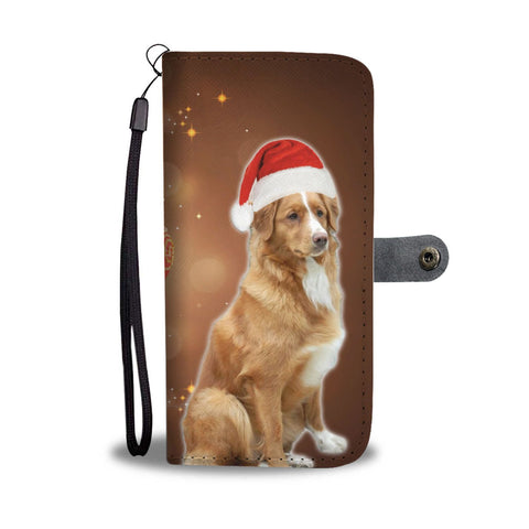 Nova Scotia Duck Tolling Retriever On Christmas Print Wallet Case-Free Shipping
