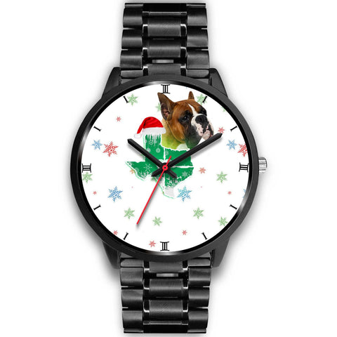 Boxer Dog Texas Christmas Special Wrist Watch-Free Shipping