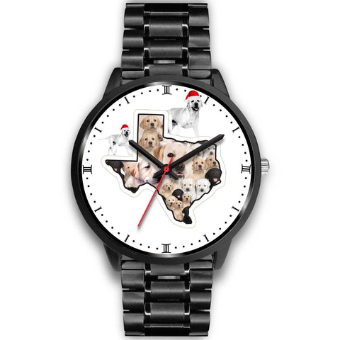 Amazing Labrador Puppies Texas Christmas Special Wrist Watch-Free Shipping