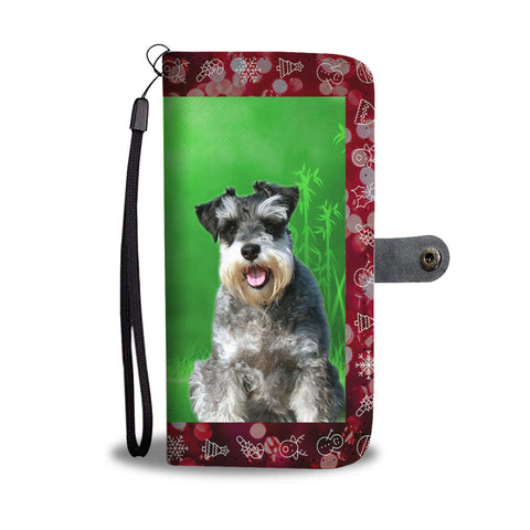 Miniature Schnauzer Christmas Print Wallet Case-Free Shipping
