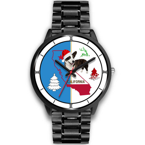 Cardigan Welsh Corgi California Christmas Special Wrist Watch-Free Shipping