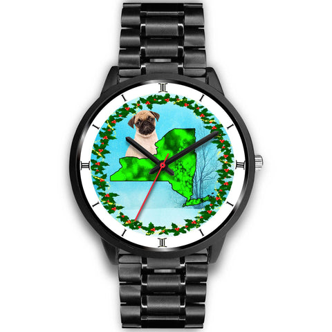 Cute Pug New York Christmas Special Wrist Watch-Free Shipping
