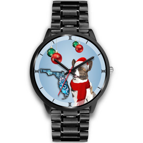 Cardigan Welsh Corgi On Christmas Wrist Watch-Free Shipping