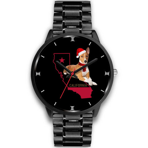 Basenji Dog California Christmas Special Wrist Watch-Free Shipping