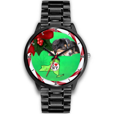 Australian Shepherd Dog New York Christmas Special Wrist Watch-Free Shipping
