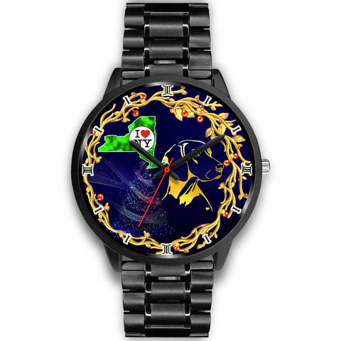 Vizsla Dog Golden Art New York Christmas Special Wrist Watch-Free Shipping