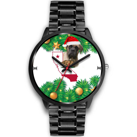 English Mastiff Dog California Christmas Special Wrist Watch-Free Shipping