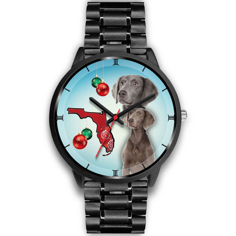 Weimaraner On Christmas Florida Wrist Watch-Free Shipping