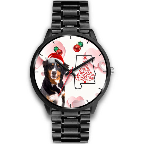 Bernese Mountain Dog On Christmas Alabama Wrist Watch-Free Shipping