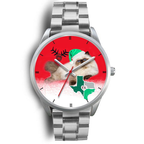 Himalayan Cat Texas Christmas Special Wrist Watch-Free Shipping
