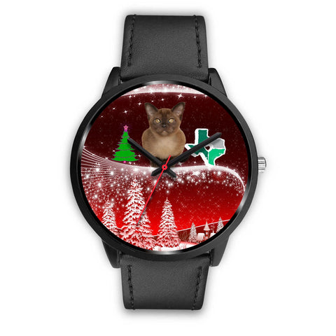 Burmese Cat Texas Christmas Special Wrist Watch-Free Shipping