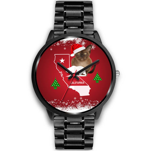 Burmese Cat California Christmas Special Wrist Watch-Free Shipping