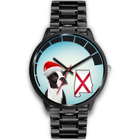 Boston Terrier On Christmas Alabama Wrist Watch-Free Shipping