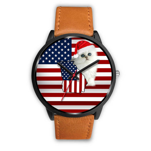Persian Cat Georgia Christmas Special Wrist Watch-Free Shipping