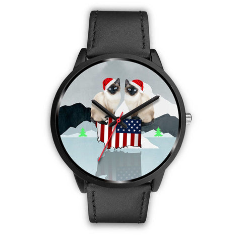 Siamese Cat Washington Christmas Special Wrist Watch-Free Shipping