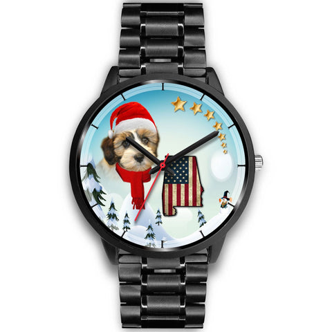 Shih Tzu Alabama Christmas Special Wrist Watch-Free Shipping