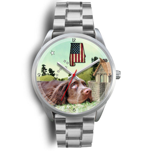 Sussex Spaniel Alabama Christmas Special Wrist Watch-Free Shipping