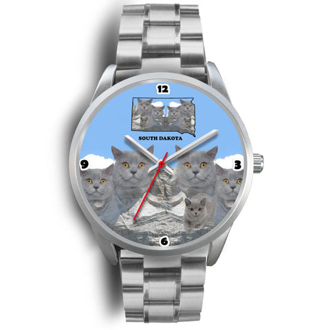 British Shorthair Cat South Dakota Christmas Special Wrist Watch-Free Shipping
