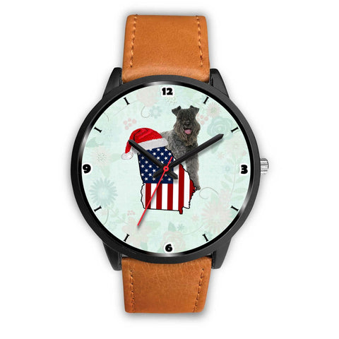 Kerry Blue Terrier Georgia Christmas Special Wrist Watch-Free Shipping