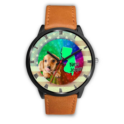 Cute Dachshund Puppy New Jersey Christmas Special Wrist Watch-Free Shipping