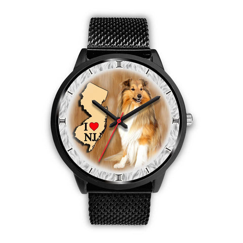 Shetland Sheepdog New Jersey Christmas Special Wrist Watch-Free Shipping