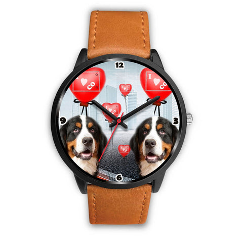 Bernese Mountain Dog Colorado Christmas Special Wrist Watch-Free Shipping