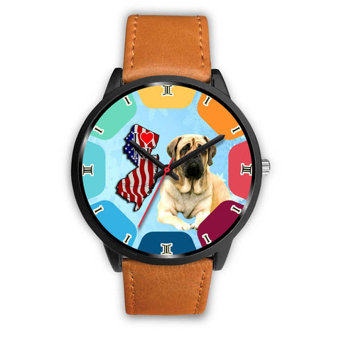 English Mastiff Dog New Jersey Christmas Special Wrist Watch-Free Shipping