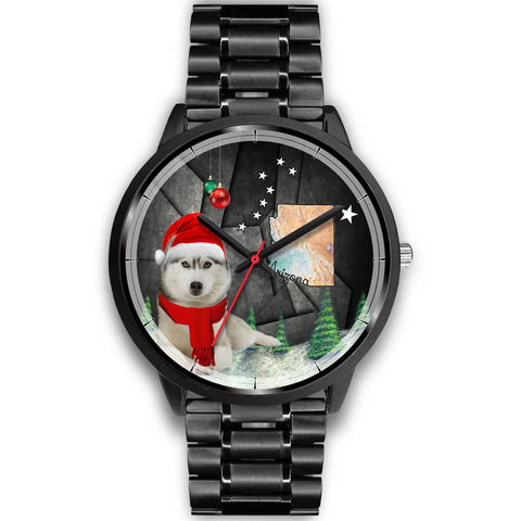 Cute Siberian Husky Arizona Christmas Special Wrist Watch-Free Shipping