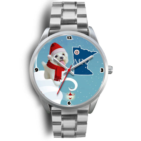 Maltese dog Minnesota Christmas Special Wrist Watch-Free Shipping