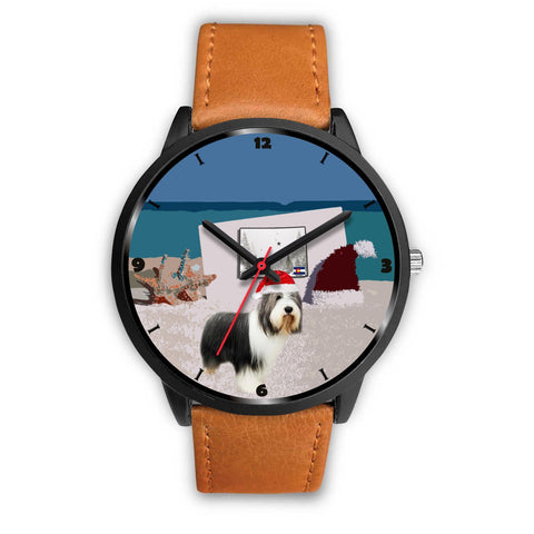 Bearded Collie Colorado Christmas Special Wrist Watch-Free Shipping