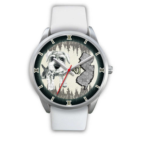 Cute Miniature Schnauzer Dog Sketch New Jersey Christmas Special Wrist Watch-Free Shipping