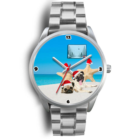 Pug Dog Colorado Christmas Special Wrist Watch-Free Shipping