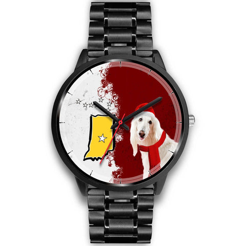 Afghan Hound Indiana Christmas Special Wrist Watch-Free Shipping