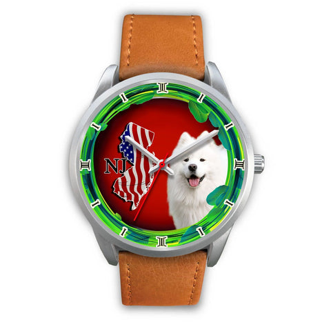 Samoyed Dog New Jersey Christmas Special Wrist Watch-Free Shipping
