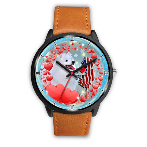 American Eskimo Dog New Jersey Christmas Special Wrist Watch-Free Shipping