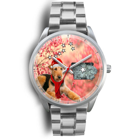Airedale Terrier Iowa Christmas Special Wrist Watch-Free Shipping