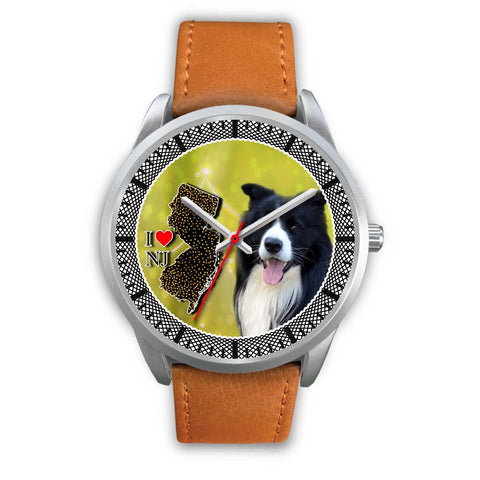 Lovely Border Collie Dog New Jersey Christmas Special Wrist Watch-Free Shipping