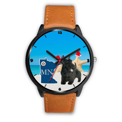 Scottish Terrier Minnesota Christmas Special Wrist Watch-Free Shipping