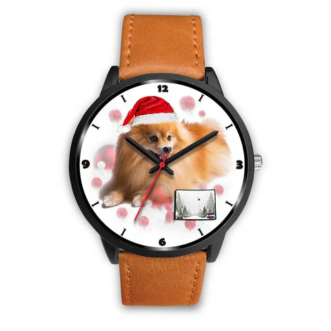 Pomeranian Dog Colorado Christmas Special Wrist Watch-Free Shipping
